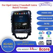 64Gb Android Auto MP3 Multimedia Speler Voor Opel Astra J Vauxhall Astra Buick Verano Gps Verticale Screen Navigatie