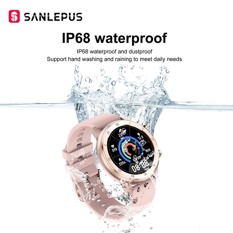Умные часы SANLEPUS глобальная версия IP67, водонепроницаемые Смарт-часы, новинка 2020, мужской и женский фитнес-браслет, ремешок для Android, Apple, Xiaomi-5