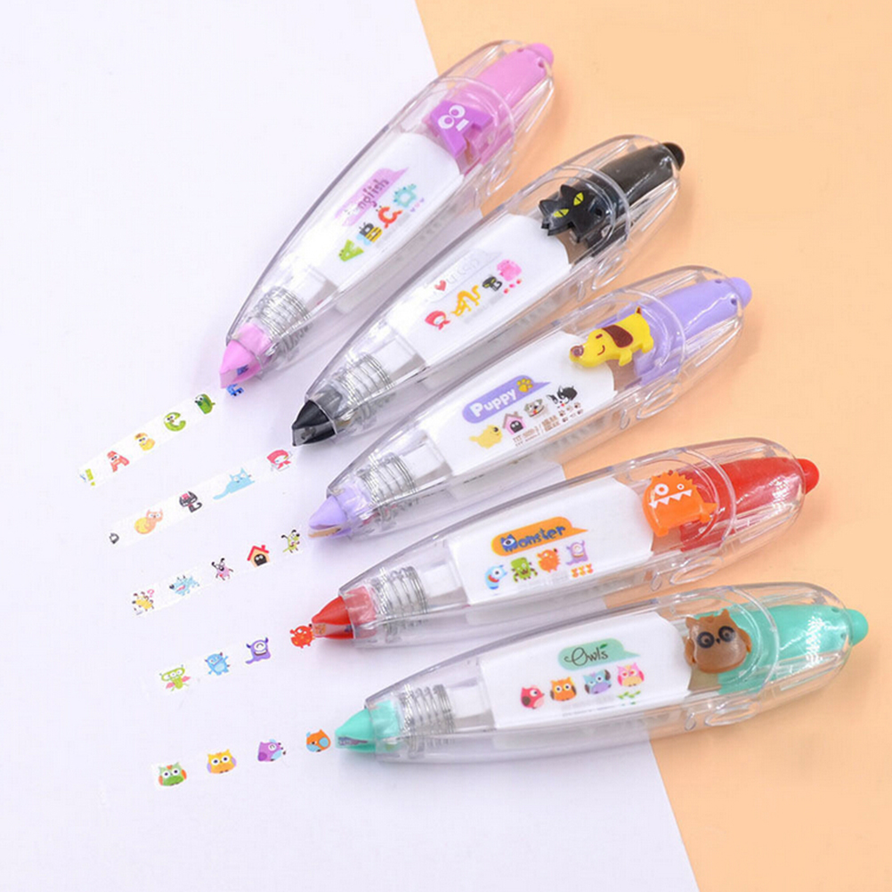 4pcs Kawaii Animals Cat Press Type Decorative Correction Tape Scrapbooking Diary Stationery School Supplies