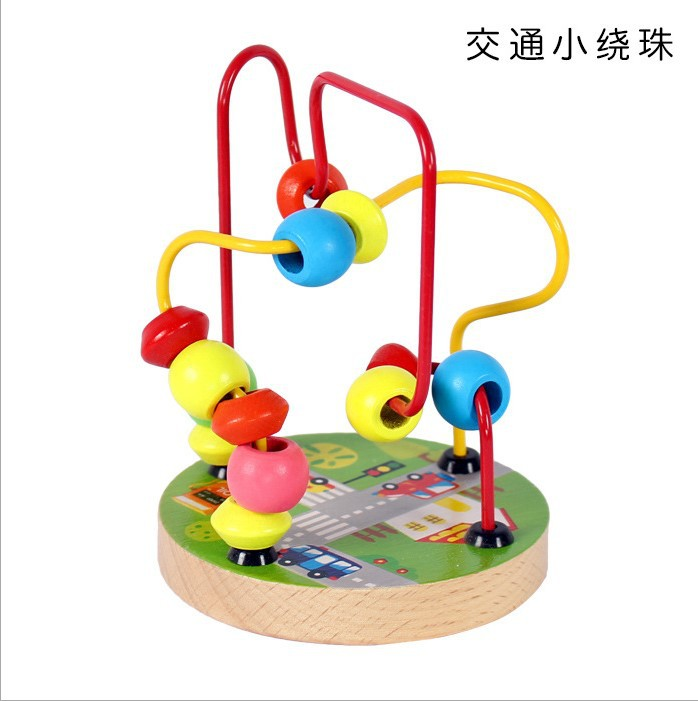 Children Early Education Animal Round Plates Small Bead-stringing Toy Colorful Four-Selectable High Quality Building Blocks Baby