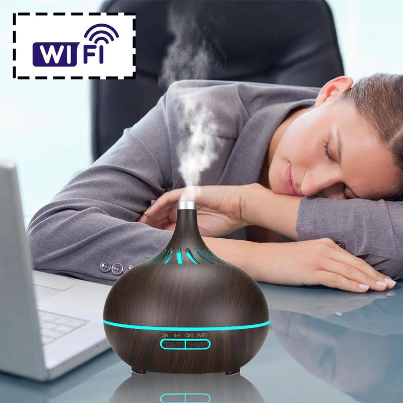 WiFi 2h/4h Aromatherapy Machine Mute Water Resistance Timing Ultrasonic Air Humidifier Essential Oil Aromatherapy Diffuser