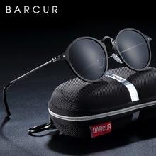 BARCUR Aluminum Magnesium Vintage Sunglasses For Men Polarized Round Sun Glasses Women Retro Eyewear Oculos Masculino