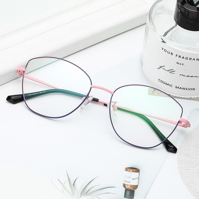 New Retro Metal Full Frame Glasses Frame Fine Art Glasses Frame Personality Design Temperament Fashion Trend Flat Mirror.