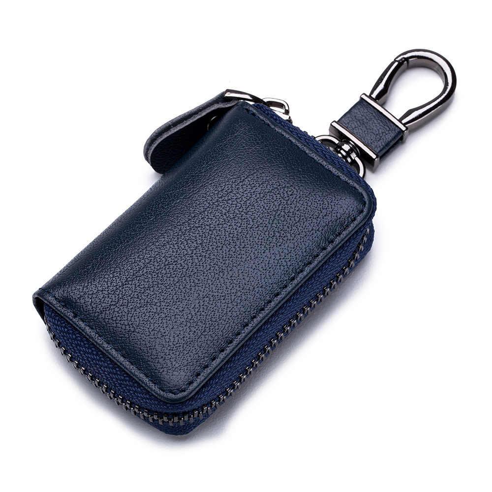 חדש רכב מפתח תיק כיסוי עור באיכות גבוהה Keychain רכב מפתח מקרה עבור גברים מקרית מיני רכב מפתח מחזיק ארגונית פאוץ נשים