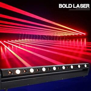 Image 3 - Led ruchoma głowica pokaz laserowy projektor świetlny 8 głowa czerwona wiązka tłuszczu 3w Bar Dj na wieczór muzyczny, teatr, Pub