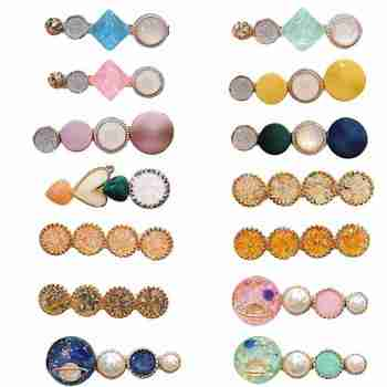 1pc Pearl Metal Hair Clip Hairband Comb Bobby Pin Hair Clip Barrette Hairpin Headdress Accessories Beauty Styling