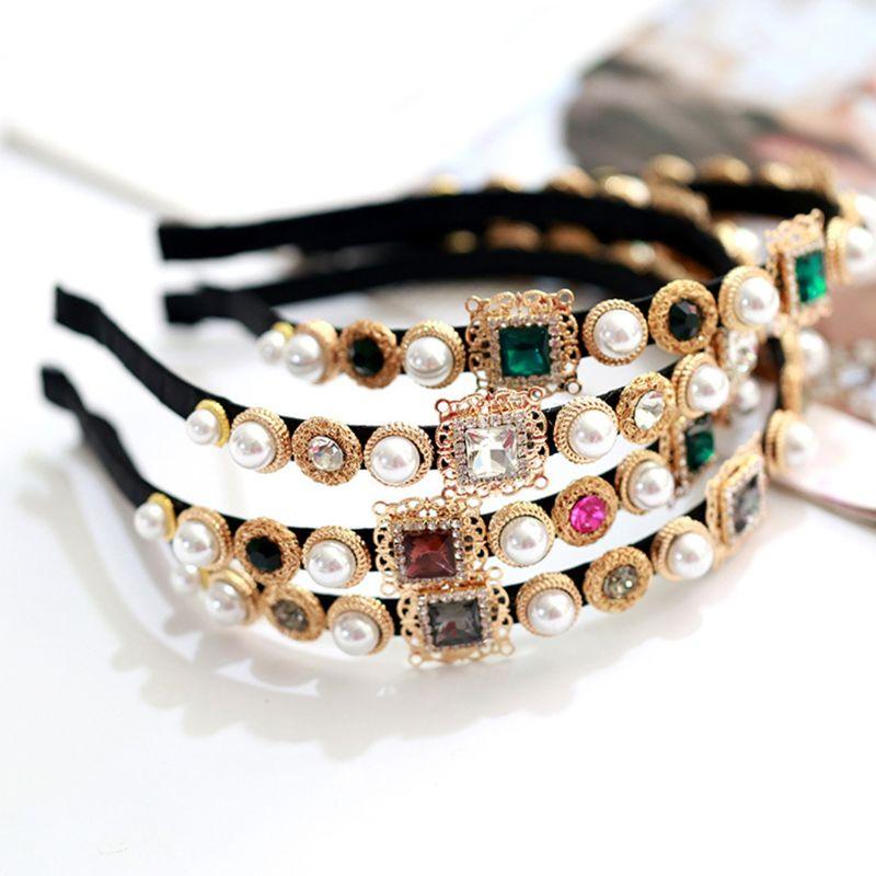 Barroco vintage cheio de jóias embelezado bandana