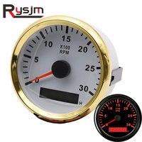 85mm Tachometer 0-3000 RPM meter Gauge with LCD Hour Meter red Backlight Hourmeter for REV Truck Car Boat Diesel Engine Tacho