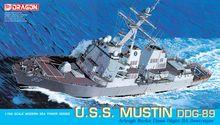 DRAGÃO 7044 1/700 U.S.S. Mustin DDG-89 navio modelo kit