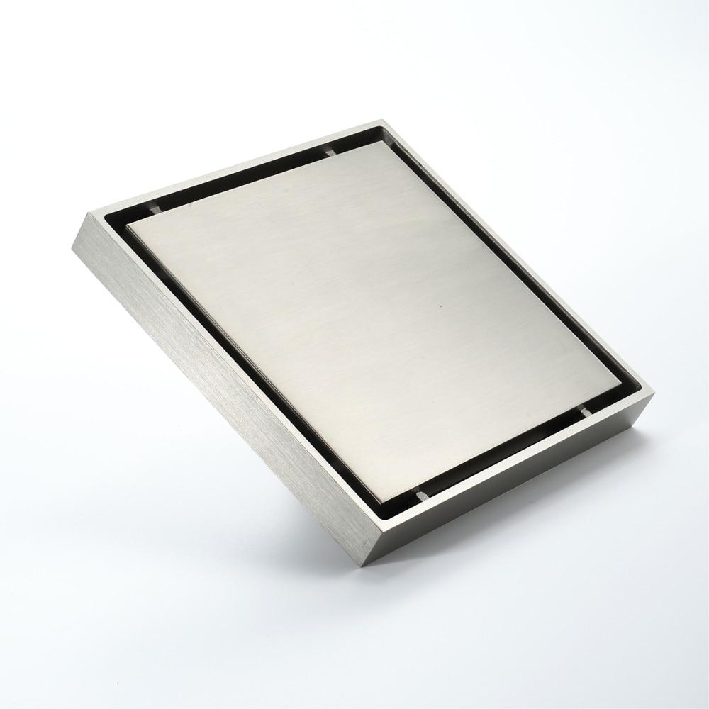 15*15cm brosse Nickel laiton bouchon pour évier bain crépine sol Drain douche Drain Siphon Anti odeur salle de bain toilette cuisine balcon - 4