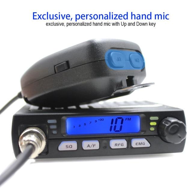Ultra Compact AM FM Mini Mobie CB Radio 25.615--30.105MHz 4W/8W Amateur Car radio Station CB-40M  Citizen Band Radio AR-925 2