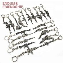 Hot New Gun KeyChains Tritium Metal M4A1 CS GO Keyring Key Holders For Best Friends Chaveiros Llaveros Men Porta Porte Clef