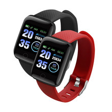 Reloj inteligente deportivo resistente al agua para Android iOS, pulsera inteligente deportiva con control del ritmo cardíaco, 116 Plus
