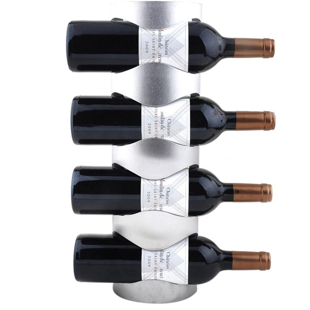 Настенный держатель для винной бутылки из нержавеющей стали держатель для хранения витрина, домашний декор MYDING - Цвет: 4 Bottle