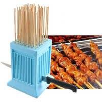 Barbecue carne spiedo strumenti 49 stringa spiedini di usura tofu artefatto macchina barbecue a base di carne di stringer macchina mangal arrosticini espetinho