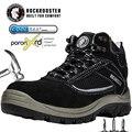 Sapatos de trabalho de segurança homens composto toe impermeável indestrutível sapatos de couro leve respirável ao ar livre tornozelo botas calçado