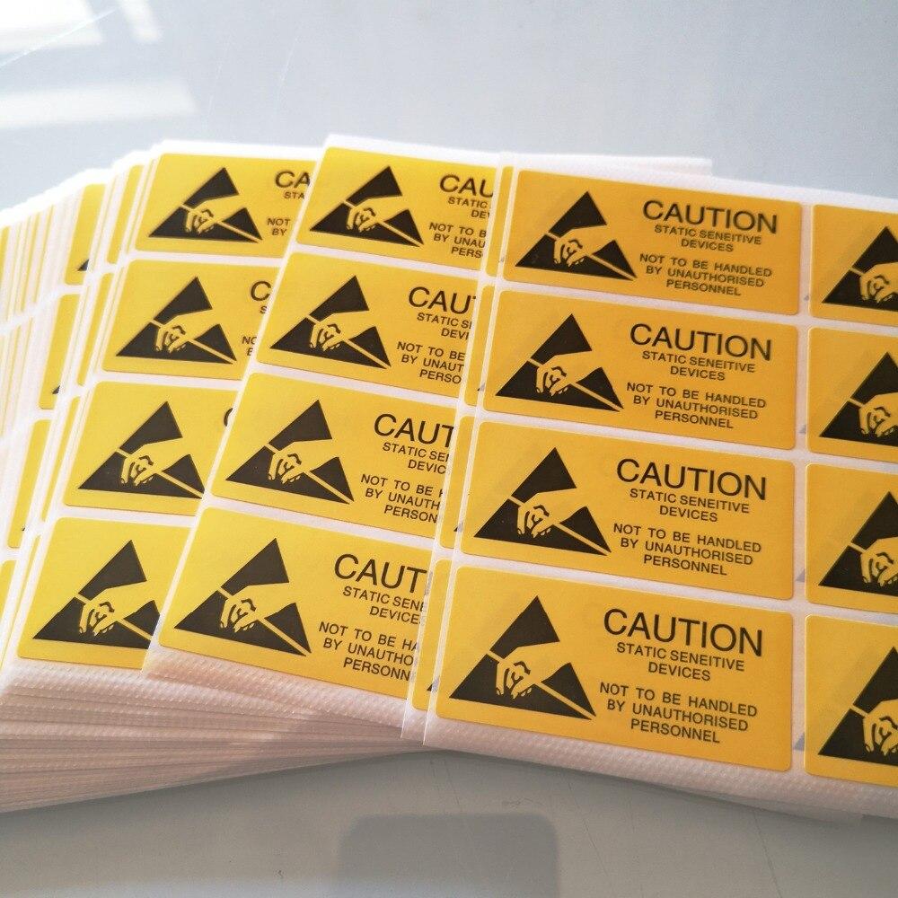 300 шт./лот 55x25 мм внимание статические чувствительные устройства самоклеющиеся этикетки наклейка Пункт № CA30