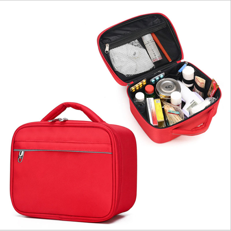 Outdoor First Aid Kit Outdoor Sports Red Nylon Waterproof Cross Messenger Bag Family Travel Emergency Medical Bag LB008