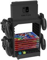 Soporte de almacenamiento de tarjeta de juego multifunción para Nintendo Switch, soporte de torre para controlador de disco, NS, Nintendo Switch