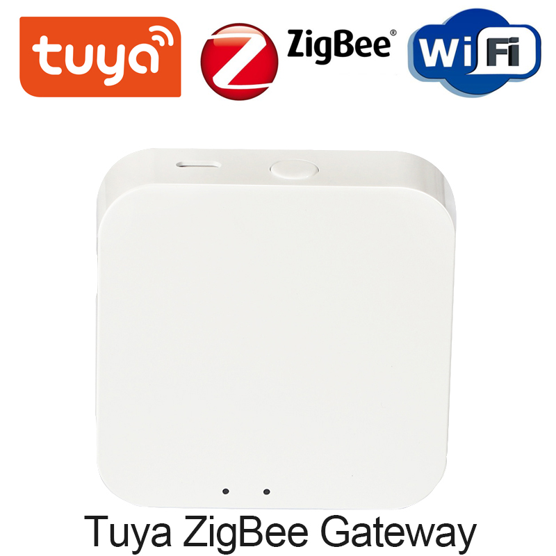 Tuya ZigBee Mini Temperature Humidity Sensor Built-in Battery Smart Life APP Smart Home Building Automation LCD Screen Display