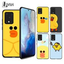 Silicone Soft Cover cool yellow duck For Samsung Galaxy S20 Ultra Plus A01 A11 A21 A31 A41 A51 A71 A91 Phone Case(China)