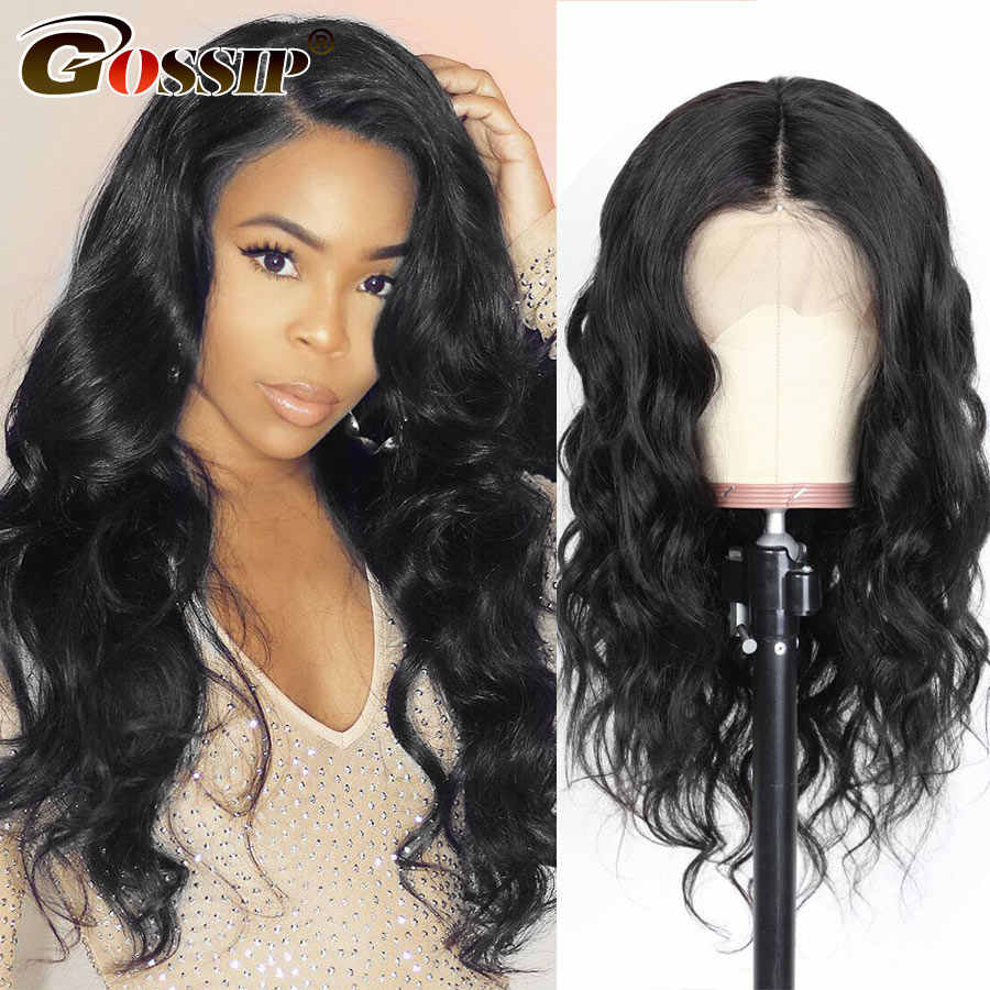 180 Density 360 Lace Frontal Wig Pre Plucked With Baby Hair Indian Body Wave Wig 6Inch Lace Front Wig Human Hair Wigs Women Remy