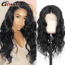 Perruque Lace Front Wig 180 naturelle, cheveux indiens Remy, 6 pouces, pre-plucked, avec Baby Hair, pour femmes, densité 360