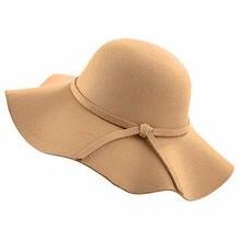 Новая модная женская шерстяная фетровая шляпа, Панама, шляпа с широкими полями, пряжка на ремне, фетровые шляпы, черный, серый, красный, верблюжий, кофейный