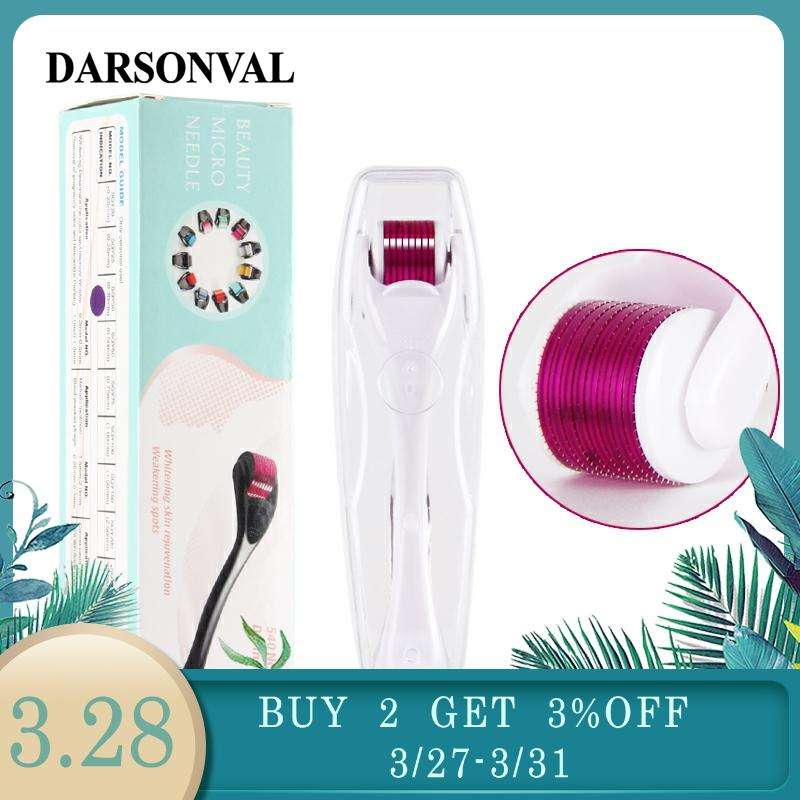 DARSONVAL DRS 540 Derma Roller Micro Needles Titanium Microneedle Mezoroller Machine For Skin Care And Hair-loss Treatment