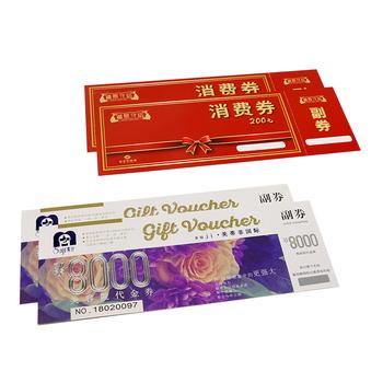 Logo niestandardowe kupony karty drukowane karty promocyjne tanie i dobre opinie NoEnName_Null customizable Chrome paper