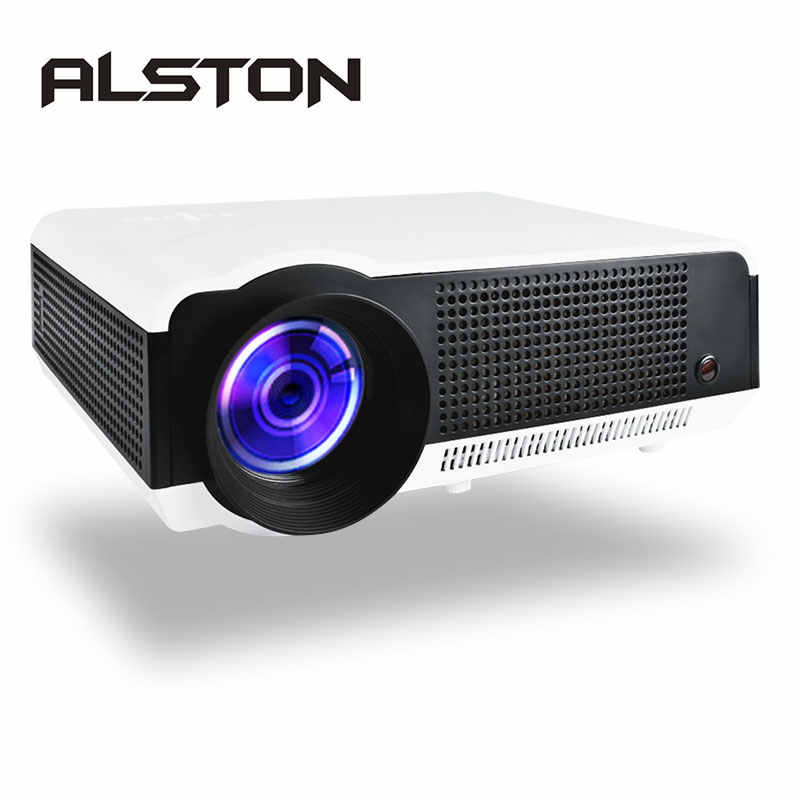 ALSTON LED 86/86W projecteur LED 4500Lumens Double haut-parleurs HIFI en option Android6.0 WiFi Bluetooth soutien 1080P Beamer