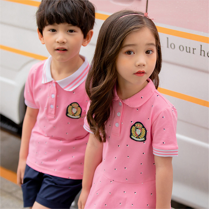 Primary School STUDENT'S School Uniform British-Style College Style Business Attire Children CHILDREN'S DAY Performance Wear Gra