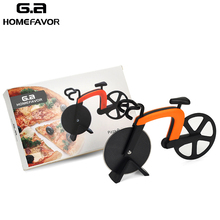 Bicycle Pizza Cutter Wheel Stainless Steel Blades Non-stick Coating Roller Pizza Chopper Bike Knife Kitchen Cooking Tools tainless steel pizza cutter round wheel roller cake knife with finger protection kitchen tools