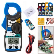 4Color LCD Digital Clamp Multimeter AC/DC Current Ammeter Voltage Resistance Capacitance Volt Amp Ohm Meter With Tester Probe multimeter ammeter voltmeter wattmeter ac 80 260v 0 100a lcd digital display current voltage power energy meter