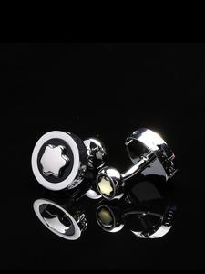 Shirt Cufflinks Jewelry Gemelos Men's High-Quality Luxury Brand Wedding-Abotoaduras Round