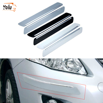 YOLU 4pcs Door Edge Trim Guard Corner Bumper Protector Protective Sticker Car Anti-Collision Anti-Scratch Black/Gray/White