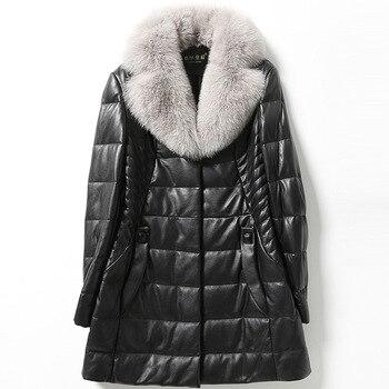 Abrigo de piel grueso y cálido para mujer, de moda de invierno de alta calidad en negro de talla grande 4xl 5xl 6xl, piel de oveja, chaquetas de largo medio con bolsillos