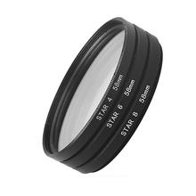 Star Filter 4X 6X 8X Point Line 37 40.5 43 46 49 52 55 58 62 67 72 77 82mm for Canon Sony Nikon DSLR Cameras Lens photography