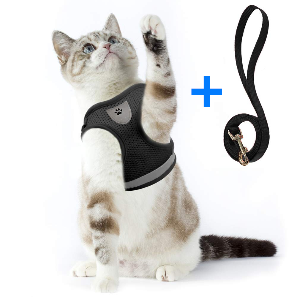 Adjustable Cat Harness And Leash Escape Proof Pet Clothes Kitten Puppy Dogs Vest Easy Control Reflective Cat Harness 1