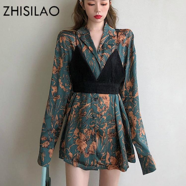 Цветочное мини платье, женское винтажное элегантное пляжное платье с длинным рукавом размера плюс, осень весна 2020, ретро Платье Макси|Платья|   | АлиЭкспресс