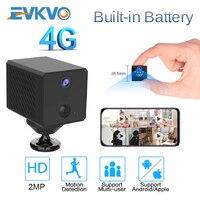 EVKVO-minicámara de seguridad con batería de 1080P y 4G, cámara IP 4G con batería de 2600mAh, Wifi, cámara de vigilancia nocturna IR