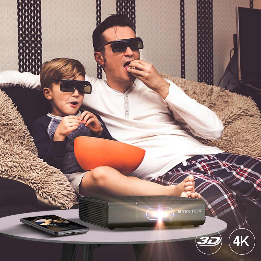 BYINTEK U30 Full HD 1080P 3D Android WIFI inteligente láser Beamer 300 pulgadas portátil Mini Proyector para Smartphone 4K de cine