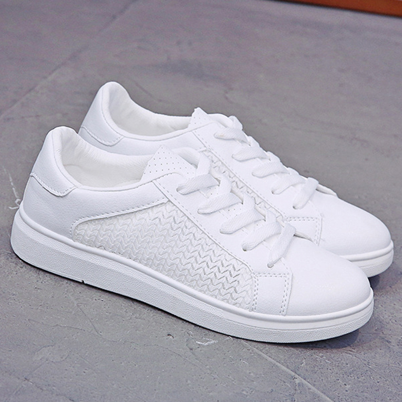 Sneakers Women Breathable Mesh Summer Autumn Women Causal Shoes Fashion White Leather Flat Walking Female Vulcanize Shoes VT1247 (3)