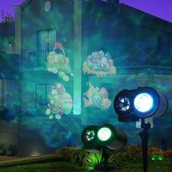 Reflektory led projektor z zdalnie sterowana wodoodporna krajobrazowa światło halogenowe dekorację na imprezę świąteczną lampa wodna w Oświetlenie wakacyjne od Lampy i oświetlenie na