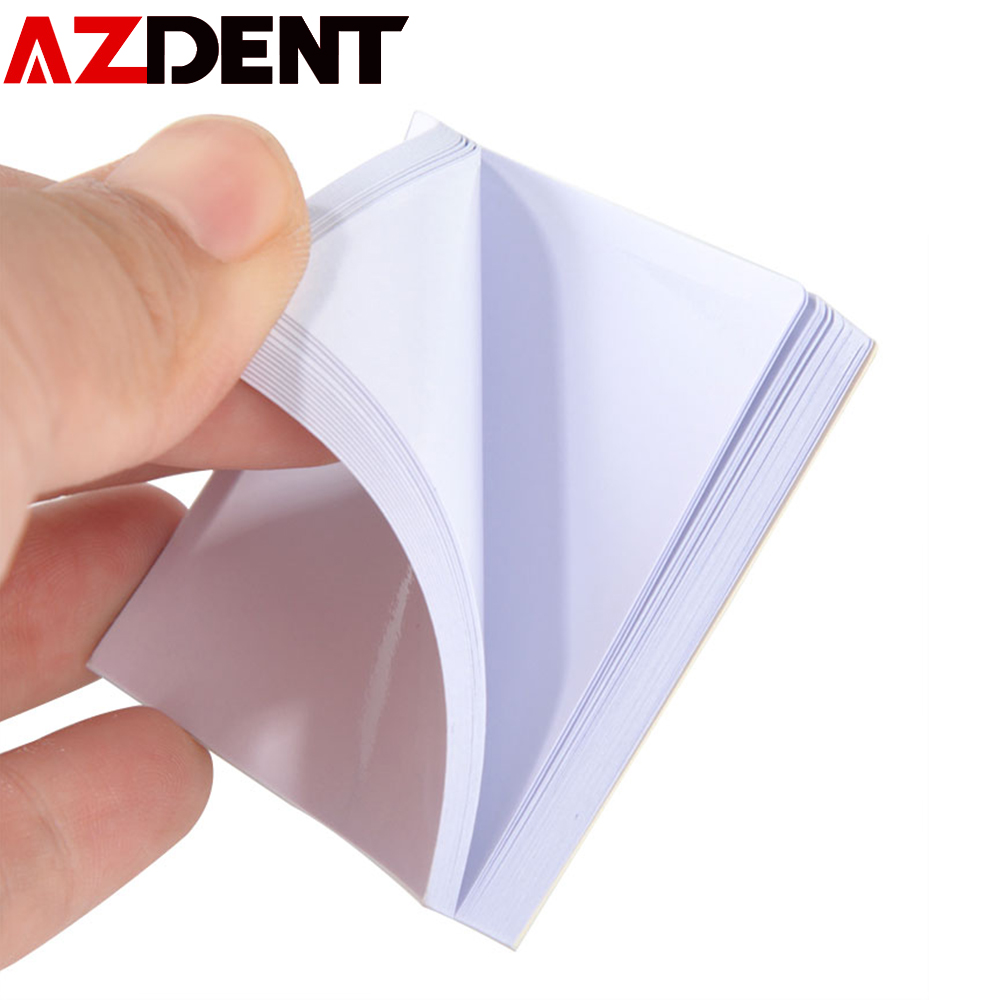 50Sheets 51x51Thickening White Cementing Paper  Disposable Mixing Pads Dental Lab Denture Laboratory Cement Powder Mixing Paper