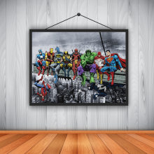 Anime Room Decor Miracle Figure Superman Iron Man Batman Printing Oil Painting Canvas Home Wall Photo Art Decoration