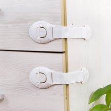 10Pcs/Lot Child Lock Protection Of Doors Drawer Door Cabinet Cupboard Toilet  For Safety Plastic protection safety lock