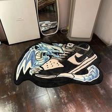 Yu-Gi-Oh Blue-eyed White Dragon Home Bedroom Adult Children Washable Large Carpet 140x100CM Fluff 2-3cm Non-slip Bottom Trendy