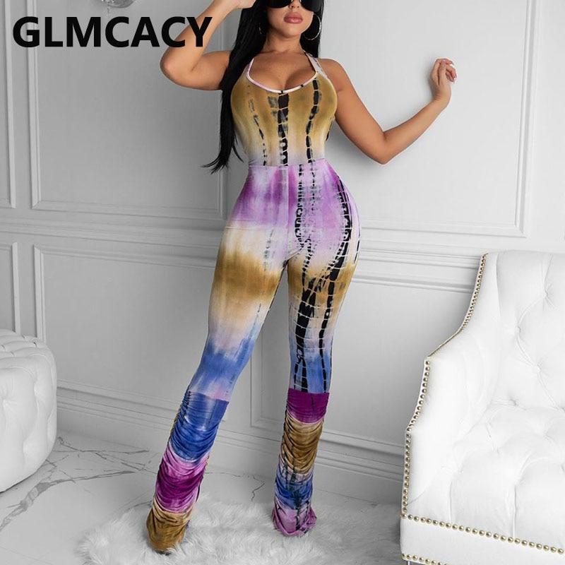 Women Sexy Summer Crisscross Backless Jumpsuits Elegant Chic Ladies Overalls Jumpsuit