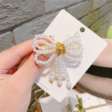 High Quality Women Fashion Pearl Brooch Jewelry Lady Bowknot Tassel Pin Broches